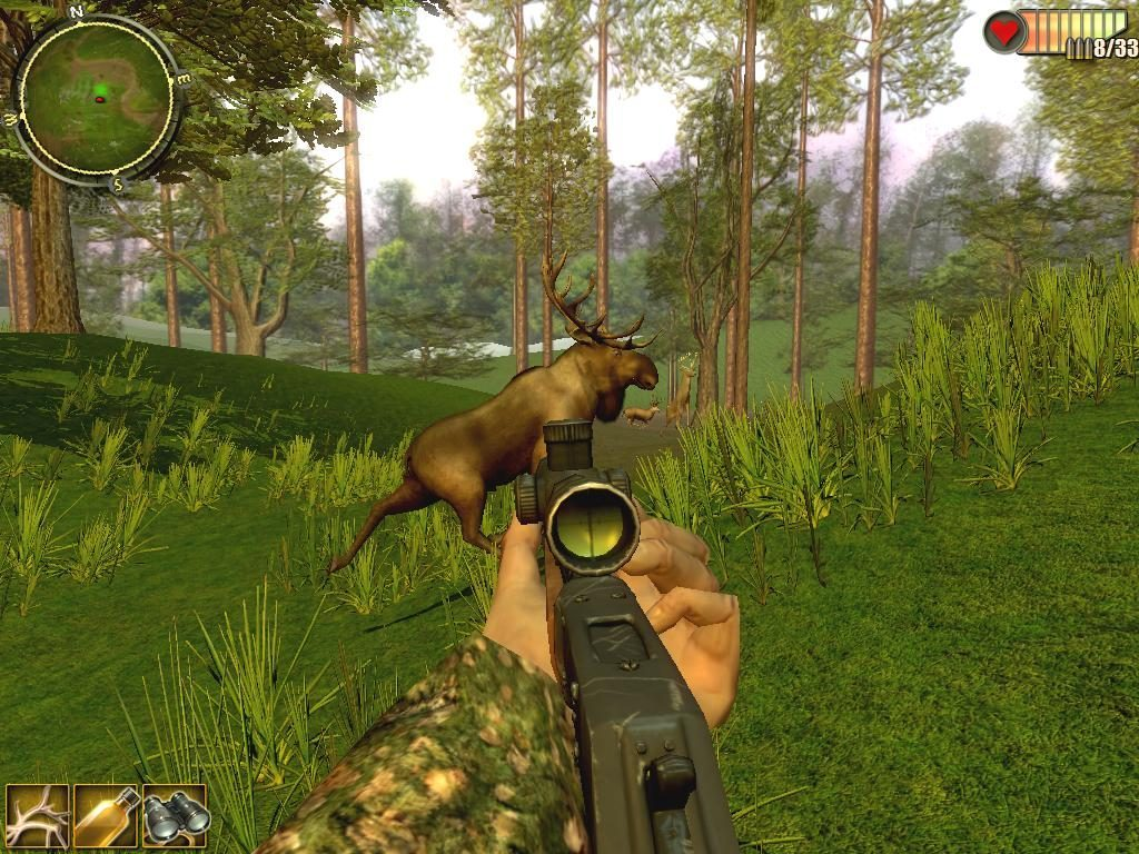 Online hunting game